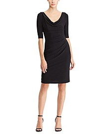 Stretch Jersey Cowlneck Dress