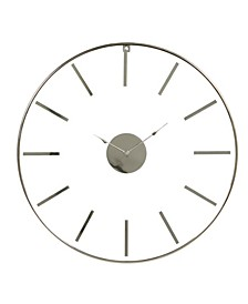 Large Round Stainless Steel Modern Wall Clock