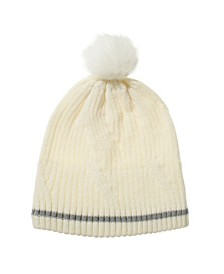 Women's Water Repellent Textured Knit Beanie