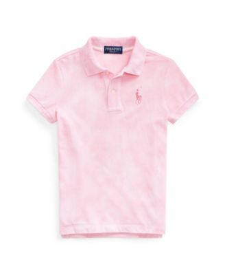 폴로 랄프로렌 여아용 폴로티 Polo Ralph Lauren Little Girls Pink Pony Tie-Dye Mesh Polo Shirt,Space Dye