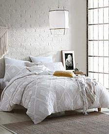 Extraordinary Puyuma Jacquard Gauze 5 Piece Comforter Set, Full/Queen
