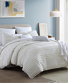 Magnificent Marilla Dot 5 Piece Comforter Set, Full/Queen