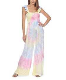 Tie-Dye Jumpsuit Cover-Up