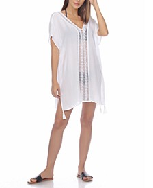 Crochet-Trim Cover-Up Tunic