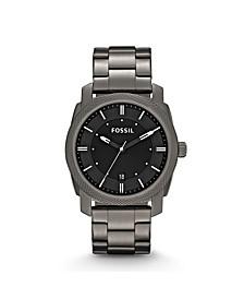 Men's Machine Gray Stainless Steel Bracelet Watch 42mm