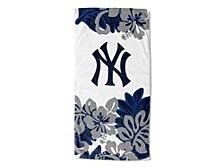 "New York Yankees 30x60 ""Flower Power"" Beach Towel"