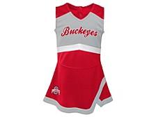 Ohio State Buckeyes Toddler Cheer Captain Dress