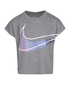 Toddler Girls Swoosh Logo Graphic Boxy Fit T-shirt