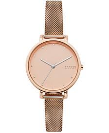 Women's Hagen Rose Gold-Tone Stainless Steel Mesh Bracelet Watch 34mm