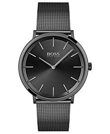 HUGO Men's Skyliner Black Stainless Steel Mesh Bracelet Watch 40mm