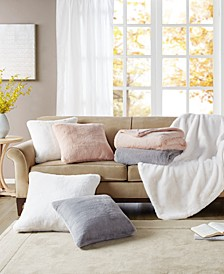 Faux Fur Decorative Pillow & Throw Collection, Created for Macy's