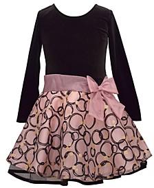 Toddler Girls Glitter Organza Drop Waist Dress