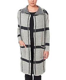 Women's Drape Collar Coatigan Sweater