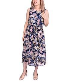 Petite Sleeveless Chiffon Midi Dress