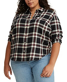 Trendy Plus Size Cotton Ultimate Boyfriend Shirt