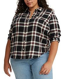 Trendy Plus Size Cotton Ultimate Boyfriend Shirt