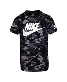 Little Boys Camo Print Logo T-Shirt