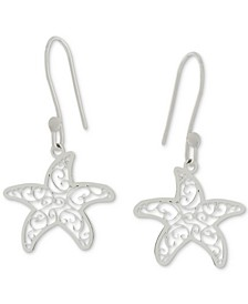 Filigree Starfish Drop Earrings in Sterling Silver, Created for Macy's