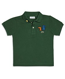 Toddler Boys Short Sleeve Organic Cotton Petit Pique Polo Shirt