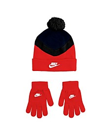 Big Boys Pom Beanie and Gloves Set