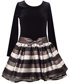 Toddler Girls Jacquard Stripe Dress