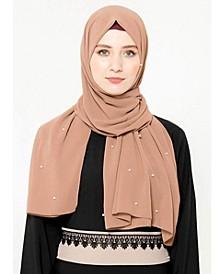 Women's Pearl Chiffon Hijab