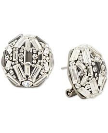 Baguette Crystal Cluster Stud Earrings