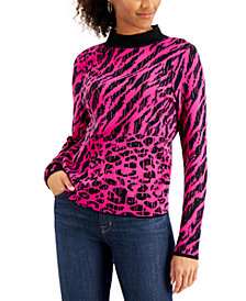 Willow Drive Animal-Print Sweater