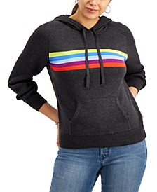 Petite Striped Hoodie, Created for Macy's