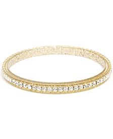 Crystal-Embellished Colored Bangle Bracelet