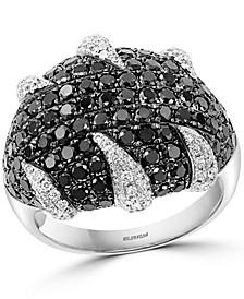 EFFY® Black & White Diamond Statement Ring (2-3/4 ct. t.w.) in 18k White Gold