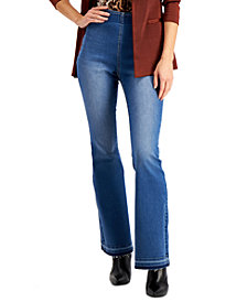 INC Pull-On Flare Jeans, Created for Macy's