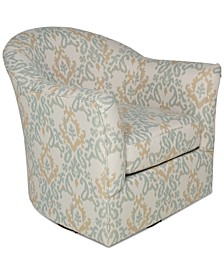 "Arold 32"" Fabric Swivel Glider Chair, Created for Macy's"