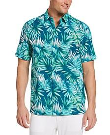 Men's Big & Tall Tropical-Print Shirt