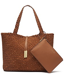 Naomi Large Woven Tote