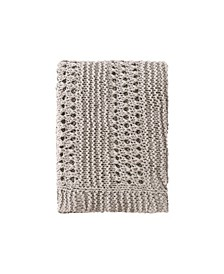 "Crochet Throw, 60"" L x 50"" W"