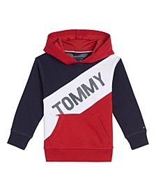 Big Boys Tricolor Pieced Pullover Hoodie