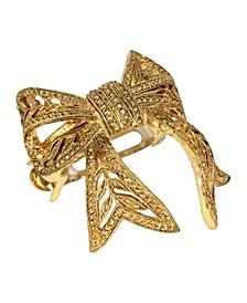 Women's Gold-Tone Bow Ponytail Holder