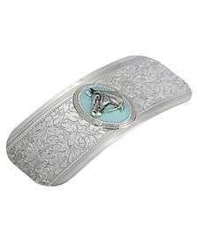 Women's Silver-Tone Turquoise Enamel Horse Head Barrette