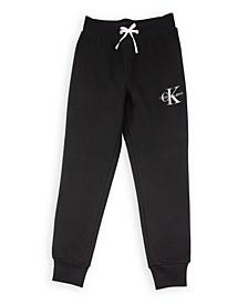 Big Girls Monogram Logo Fleece Sweatpants