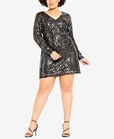 Women's Trendy Plus Size Bright Lights Dress