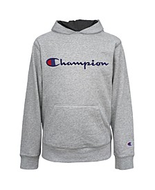 Little Boys Embroidered Signature Fleece Hoodie