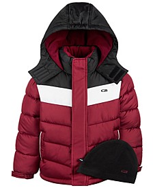 Little Boys Colorblocked Puffer Coat