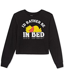 Juniors' Winnie The Pooh Long-Sleeved Graphic T-Shirt