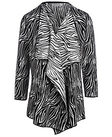 Zebra-Print Cardigan