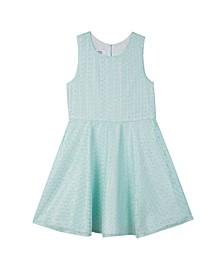 Big Girls Jeweled Waist Lace Dress