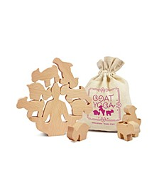 Goat Yoga Wooden Stacking Game