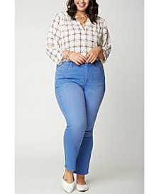 Plus Size Sheri Slim Ankle Jeans