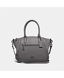Polished Pebble Leather Elise Small Satchel