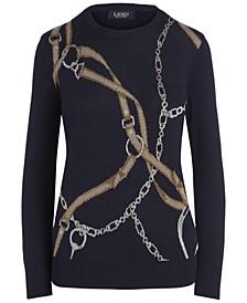Plus-Size Print Cotton Sweater